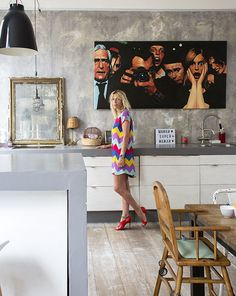 Casinha colorida: Em Paris, um flat retrô moderno cheio de POP ART