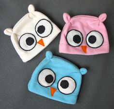 Owl Chic-a-Dee Fleece Hat in Newborn and Small