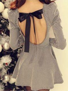 Cute Bow Design Dress