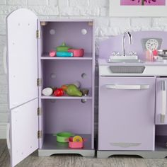 KidKraft 2 Piece Lavender Retro Kitchen and Refrigerator - Play Kitchens at Hayneedle