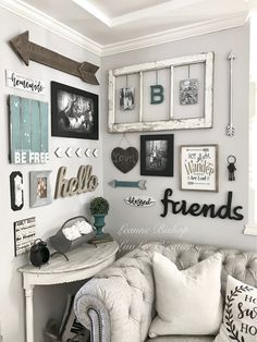 I just finished my first Gallery Wall! Be sure to check out my Facebook page for more of my DIY projects and decor: www.facebook.com/...