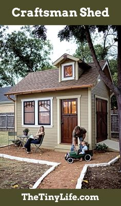 Craftsman-style shed - who says tiny can't be beautiful?