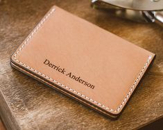 Personalized Leather Wallet For Men, Initials on Wallet, Custom Leather Wallet, Men's Gift Apple Watch Leather Strap, Slim Leather Wallet, Black Wallet, Leather Bifold Wallet, Leather Men, Bracelet Apple Watch, Wallet With Coin Pocket, Long Wallet, Personalized Leather Wallet