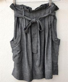 hyden yoo black chambray skirt