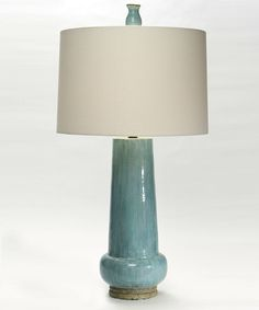 $348 - Lute Lamp - Cypress Blue - LIGHTING - Table Lamps