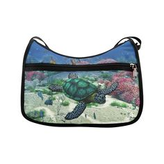 Crossbody (Model - thanks to the customer! sold at Turtle Swimming, Crossbody Bags, Coral, Sea, Ocean