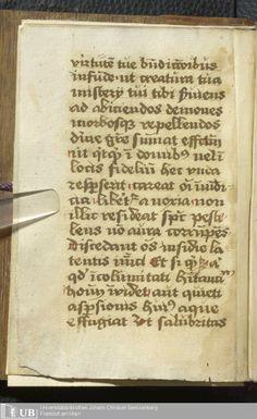 10 [2v] - Biblioth. G. Fr. 505 - Rituale - Page - Mittelalterliche Handschriften - Digitale Sammlungen - exorcisim
