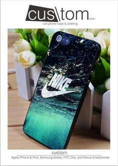 Nike Water iPhone for 4 5 5c 6 Plus Case, Samsung Galaxy for S3 S4 S5 Note 3 4 Case, iPod for 4 5 Case, HtC One for M7 M8 from cusslashtom.com.