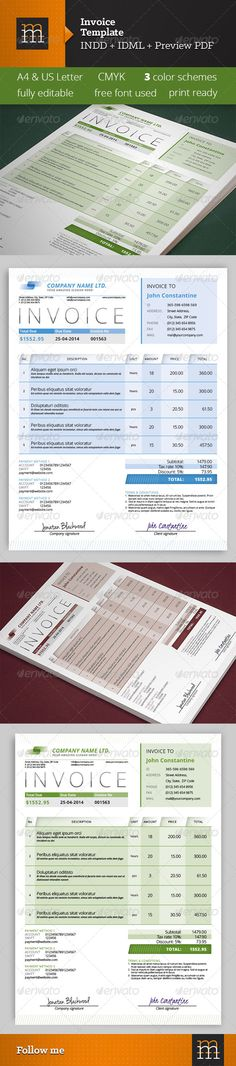 Elegant Business Invoice Template - model of invoice