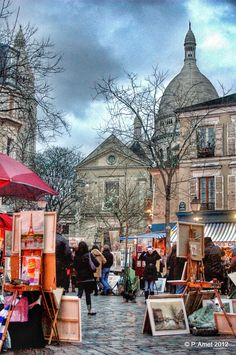 Paris, Montmartre, Place du Tertre, Île de France, France
