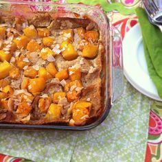 Mango Coconut French Toast Bake | Teaspoonofspice.com