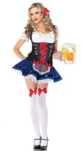 BOZEVON Women's Dirndl Dresses Halloween Oktoberfest Parties Costume Beer Maid Cosplay Sexy Fancy Dress with 5 Styles Fancy Costumes, Halloween Costumes For Girls, Girl Costumes, Adult Costumes, Costumes For Women, Girl Halloween, Maid Costumes, Costume Halloween, Cosplay Costumes