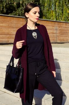Black and burgundy