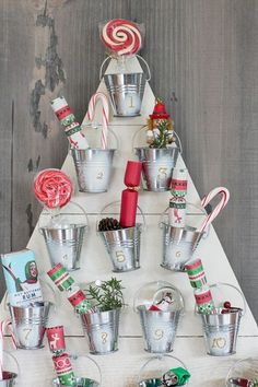 50 Best DIY Christmas Decoration Ideas - Easy, Homemade Holiday Decorations Wood Advent Calendar, Christmas Countdown Calendar, Advent Calenders, Diy Calendar, Countdown Ideas, December Calendar, 2016 Calendar, Noel Christmas, All Things Christmas
