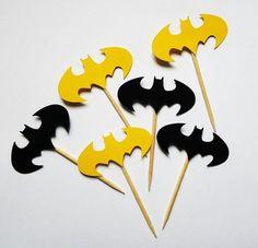 Rush Fee Order Ships Within 24 Hours - Lego Batman - Ideas of Lego Batman - Batman Cupcake Toppers Batman Bat Sign by ThisIsElevenEleven Lego Batman Party, Batman Birthday, Superhero Birthday Party, Boy Birthday Parties, Baby Batman, Batman Batman, Batman Cupcakes, Batman Party Supplies, Batman Sign
