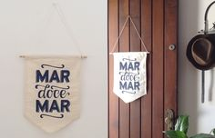 Flâmula em tecido para decorar a parede: