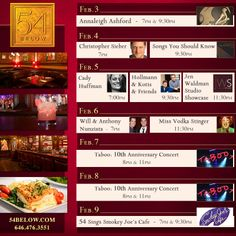 Week of February 3, 2014 Performance Schedule. Click to buy tickets.