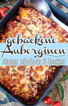 Gebackene Auberginen – nur vier Zutaten, aber unglaublich aromatisch – Eine Prise Lecker Aromatic baked eggplants, refined with tomato sauce and delicious herbs. Only four ingredients, very simple, healthy and low in calories. Chili Recipes, Mexican Food Recipes, Vegetarian Recipes, Healthy Recipes, Brunch Recipes, Breakfast Recipes, Dinner Recipes, Vegetarian Chili Crock Pot, Easy To Digest Foods