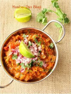 Bombay Pav bhaji - Indian street foods - I Cook Different Veg Recipes, Indian Food Recipes, Asian Recipes, Vegetarian Recipes, Cooking Recipes, Ethnic Recipes, Curry Recipes, Potato Recipes, Recipe Of Pav Bhaji