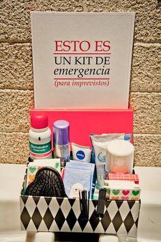 ¡Hola novios y novias! :D ¿Piensan ofrecer un kit de emergencia a los invitados? ¡Nunca se sabe si puede haber algún imprevisto! :| Por eso, mejor estár prevenidos ;)