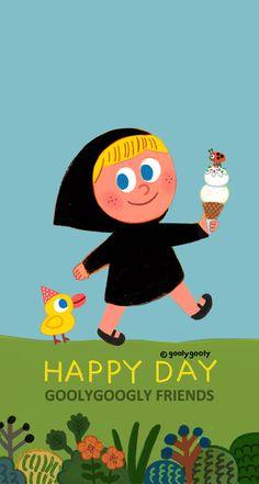 HAPPY DAY GOOLYGOOLY FRIENDS 모바일 / PC 바탕화면입니다. Download >> http://grafolio.net/illustration/wallpaper.grfl?projectNo=25813