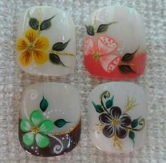 French Tip Nail Designs, French Tip Nails, Painted Staircases, Cute Pedicures, Pedicure Designs, Flower Nail Art, Nail Technician, Toe Nails, Ganesha