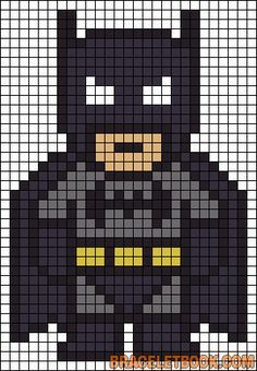 Batman Perler Bead Pattern-could also work for a quilt pattern :) . - Batman Perler Bead Pattern-could also work for a quilt pattern :] – making - Pearler Bead Patterns, Perler Patterns, Pearler Beads, Quilt Patterns, Loom Patterns, Art Patterns, Knitting Patterns, Crochet Patterns, Bead Embroidery Patterns