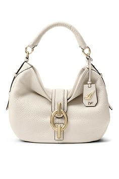 DVF Sutra Leather Hobo Bag In Parchment. I never really lust for expensive designer bags, but I LOVE this one!! Come on Christmas miracle, bring mama this purse! :)
