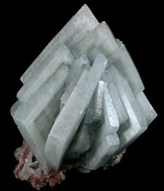 Tabular Blue Barite Crystals with Phantoms