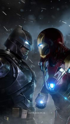 Batman vs Iron Man iPhone Wallpaper - Best of Wallpapers for Andriod and ios Dc Comics Vs Marvel, Marvel Comic Universe, Marvel Heroes, New Iron Man, Iron Man Art, Iron Man Wallpaper, Batman Wallpaper, Marvel And Dc Crossover, Iron Man Avengers
