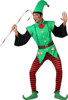 Weihnachtliches Wichtel-Kostüm für Herren