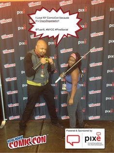 I Love NY ComicCon because it's CrazyDopetastic!! @Tuan X, #NYCC #PixeSocial