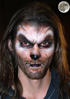 Werewolf makeup inspiration (maquillaje halloween special effects) Visage Halloween, Halloween Face Makeup, Scary Makeup, Zombie Makeup, Halloween Face Paintings, Witch Makeup, Horror Makeup, Halloween Looks, Cool Halloween Costumes