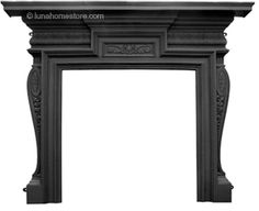 Knightsbridge Fireplace Surround Black Finish      Cast Iron     Available in Black finish     (version shown)     Suitable for all our cast iron insets Online Sale Price: £500.00 r.r.p: £823 saving: £323