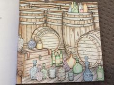 Official Outlander Coloring Book. Page 23 Coloured by Chris Hajjar of Outlander Obsession