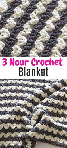 Crochet Square Blanket, Crochet Baby Blanket Free Pattern, Crotchet Patterns, Baby Afghan Crochet, Crochet Patterns For Beginners, Baby Afghans, Dishcloth Crochet, Chunky Crochet, Crochet Yarn