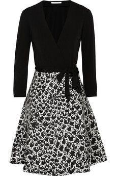 Diane von Furstenberg Amelia crepe and sateen-twill wrap dress | THE OUTNET