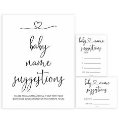 Minimalist Baby Name Suggestion, Baby Name Suggestions, Printable Baby Shower Games, Baby Games, Fun Gender Reveal Games, Baby Shower Gender Reveal, Gender Neutral Names, Unusual Baby Names, Name Suggestions, Name Card Design, Minimalist Baby, Names With Meaning, Baby Shower Games