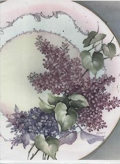 Lilacs and Scrolling by Mary Ashcroft China Painting Study | eBay
