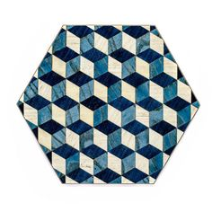 4 Blue Placemats Hexagon Place mats Dark Blue Tablemats Modern Eid... ($41) ❤ liked on Polyvore featuring home, kitchen & dining and table linens