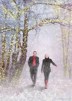 """Swanfire """"walking in a winter wonderland"""""""
