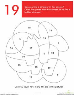 Worksheets: What's Hiding in the Numbers?: 19