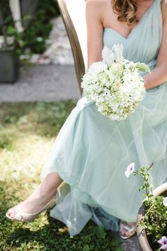 Annabelle Bridesmaids Dress in mint from @BHLDN