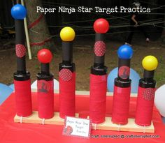 Craft, Interrupted: Ninjago / Ninja Party Game - Paper Ninja Star Throwing Practicek----LOTS of great ideas (and printables) here for a ninja/ninjago party http://www.craftinterrupted.com/2012/05/ninjago-party-game-pin-beard-on-sensei.html