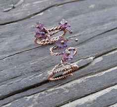 Cherry Blossom purple ring.  Mira este artículo en mi tienda de Etsy: https://www.etsy.com/listing/293817267/cherry-blossom-purple-ring-purple