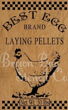 Best Egg Laying Pellets Stencil 12x20 mylar by BrownBagStencilCo