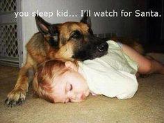 Sleep kid.............I'll watch for Santa....