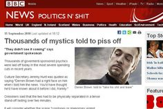 Thousands of Mystics told to Piss off