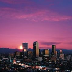 Two of my favorite things, Denver and sunsets.