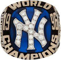 1996 New York Yankees World Championship Ring Presented to Bobby Murcer World Series Rings, Mlb World Series, Go Yankees, New York Yankees Baseball, Championship Rings, World Championship, Sports News, Artsy, Auction